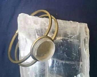 Selenite Crystal Healing Bracelet // Meditation Bracelet // New Age Jewelry // Full Moon Crystal Bracelet // White Selenite Gemstone
