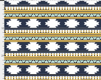 Aztec Stripe Curtains / Kids Room Curtains / Bedroom Curtains / Blackout Curtains / Kids Drapes / Aztec Nursery Decor
