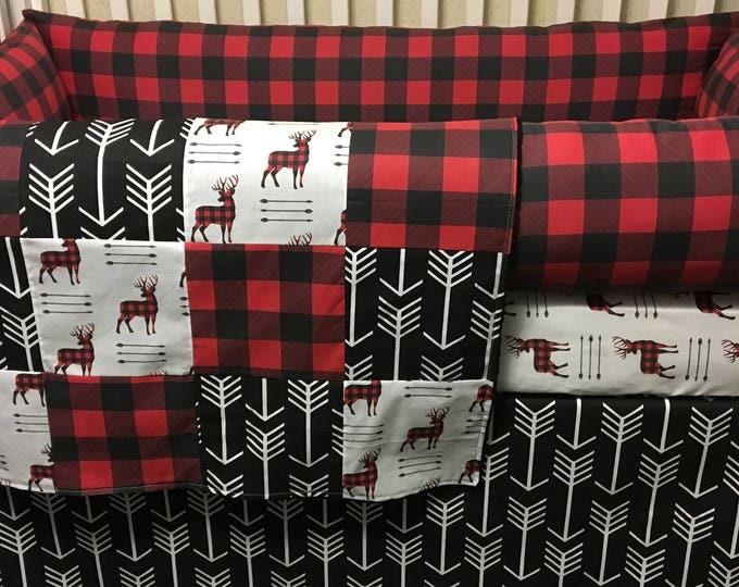 Lumberjack/Buffalo and Deer Baby Bedding - Baby Boy Crib Bedding