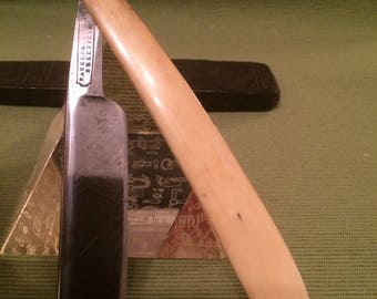 Vintage Parker & Lindley, Sheffield Cut Throat Straight Razor and Case.