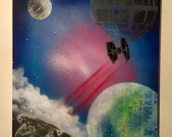 Star Wars Spray Paint Art