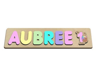 My First Easter Wooden Name Puzzle Easter Gift, Personalized Toy, Baby Name Gift, Keepsake Toy, Custom Made 590387197