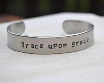 Customizable Pewter Cuff Bracelet