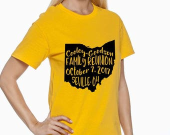 Family Reunion Shirt - Custom Made Reunion Shirt - Cooley - Goodson Family Reunion.