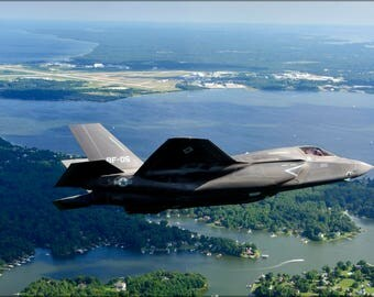 Poster, Many Sizes Available; F-35B Lightning Ii  Naval Air Station Patuxent River Maryland