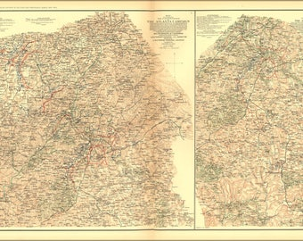 Poster, Many Sizes Available; Civil War Map Atlanta Campaign  P2