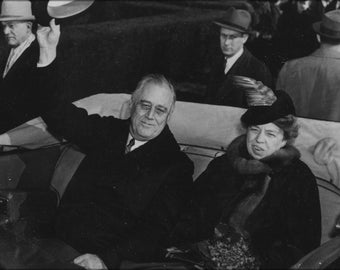 Poster, Many Sizes Available; President Franklin D. Roosevelt And Eleanor Roosevelt
