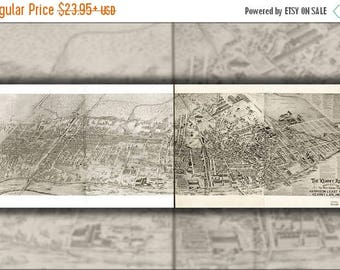 20% Off Sale - Poster, Many Sizes Available; Aerial Map Harrison East Newark New Jersey 1907