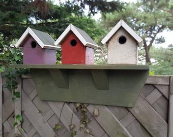 Wooden Rustic aged beach hut bird houses, bespoke wood gift
