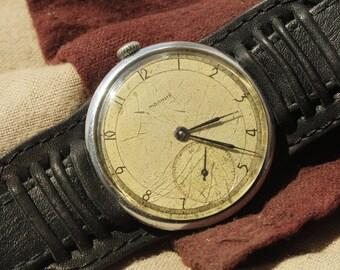 Molnija Vintage Soviet Mechanical Wrist Watch 15 jewels 50 years