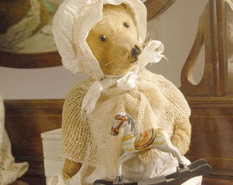 RESERVED Gail -Little Miss Tippy Toes  Antique/Vintage  teddy bear 1910'sChiltern