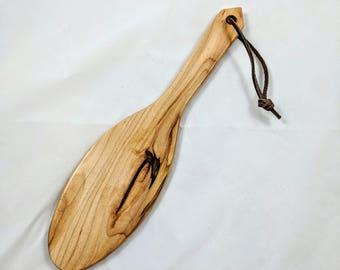 """12"""" Maple Thin 'Hairbrush' BDSM Spanking Paddle"""