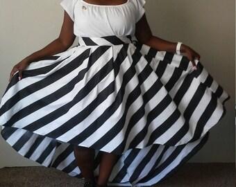 High low skirt