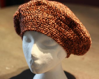 Wool beret vintage crocheted for women