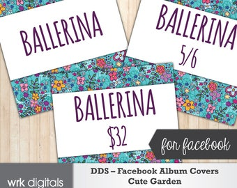 Dot Dot Smile Facebook Album Covers, Style Card, Price Card, Fashion Consultant, Cute Garden Design, INSTANT DOWNLOAD