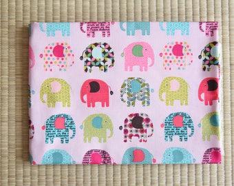 cotton color elephant fabric 1/2 yard