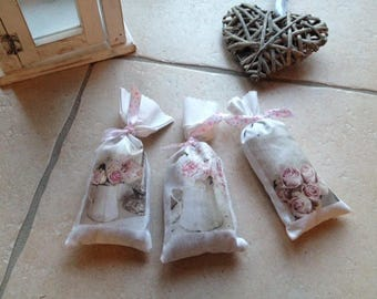 Favor bags filled with Lavender
