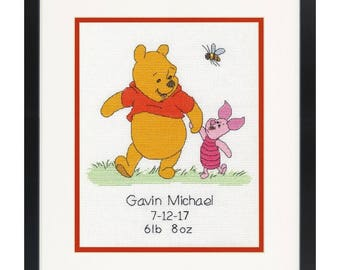 Dimensions Counted Cross Stitch Kit - Disney Winnie the Pooh Birth Record