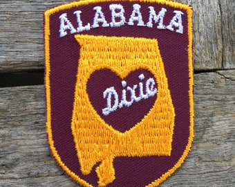 LAST ONE! Alabama Heart of Dixie Vintage Souvenir Travel Patch from Baxter Lane