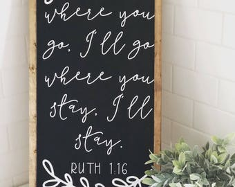 Ruth Scripture|Wood Sign