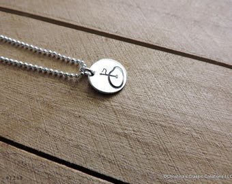Golf necklace etsy golf themed hand stamped charm or build your own necklace 1211 aloadofball Images
