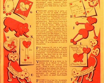 easy valentine crafts craft etsy 1941