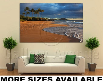 Wall Art Giclee Canvas Picture Print Gallery Wrap Ready to Hang Poolenalena Beach Park Maui Hawaii 60x40 48x32 36x24 24x16 18x12 3.2