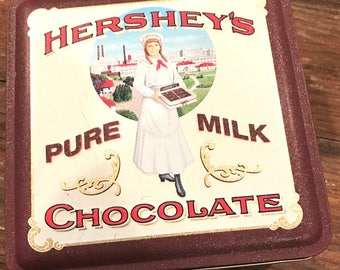1992 vintage Hershey's chocolate collectible tin