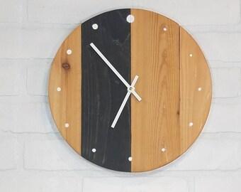 Round Wall Clock - Black Stripe