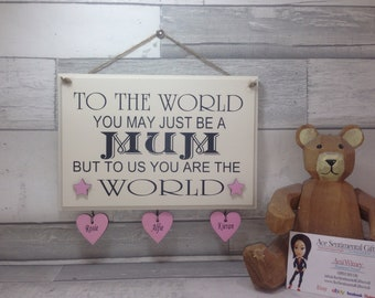 Mothers day gift for mum, mum personalised gift, quoted wooden sign. Wording changed to suit, gift for mummy, present for Mam, Nanny sign,