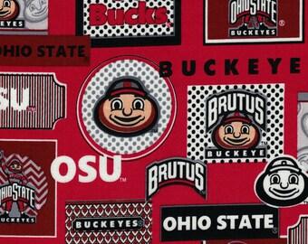 Ohio State University Fabric- Sykel Enterprises Fabrics- 100% Cotton Fabric