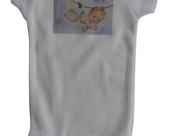 I'm Here Baby Boy on Clothesline Onesie