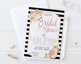 Printable Bridal Shower Invitation / Bridalshower