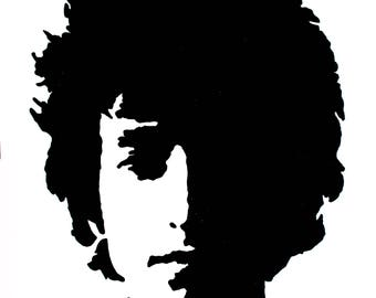 Bob Dylan hand-drawn drawing / painting