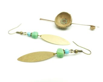Retro earrings ~ Mint ~