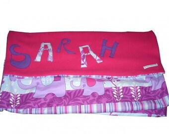 baby girl blanket - > 6 letters - custom