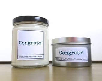 Housewarming Gift   Congratulations, Congratulations Gift   Customized Candle, Graduation   New Baby   Engagement   Wedding, New Job