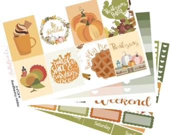 Happy Thanksgiving- Erin Condren Sticker Kit