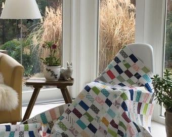 """Quilt """"Early Summer"""", Handmade, 150 x 184 cm"""