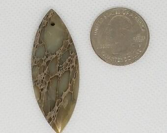 Rare Beige / Brown Sea Sediment Jasper Pendant