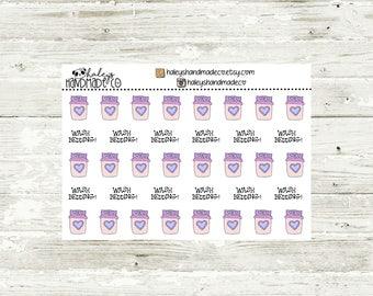 Wash Bedding Stickers (hand drawn)