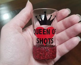 Queen of Shots Shot Glass