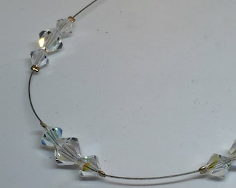 Swarosvki Clear Crystal Floating Necklace