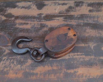 Wood and Iron Pulley