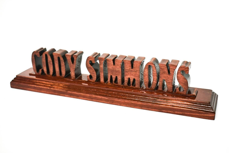 Custom desk name plate wooden plaque teachers