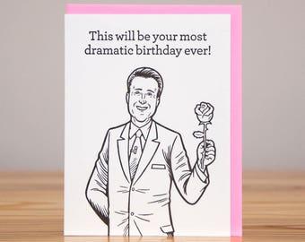 Birthday Card - Chris Harrison - The Bachelor / Bachelorette // Letterpress