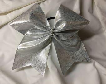 Silver Mystique Cheer Bow