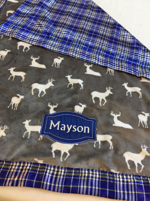 Custom listing for Two Personalized 50x60 plush silky Blankets, Ryland and Watson