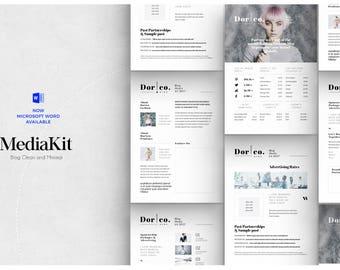 Blog Media Kit - Blogger Media Kit Template - sponsorship template, Press Kit Template, Ad Rate Sheet, Photoshop Template - Blog Kit