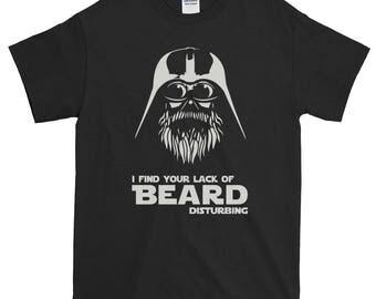 Valentines Day present t-shirt I find your lack of beard disturbing Star Wars Darth Vader